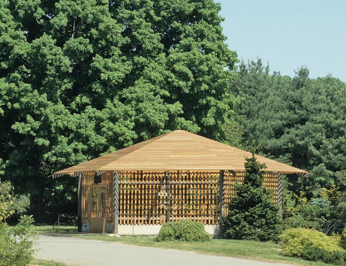 Color photograph of bonsai pavilion