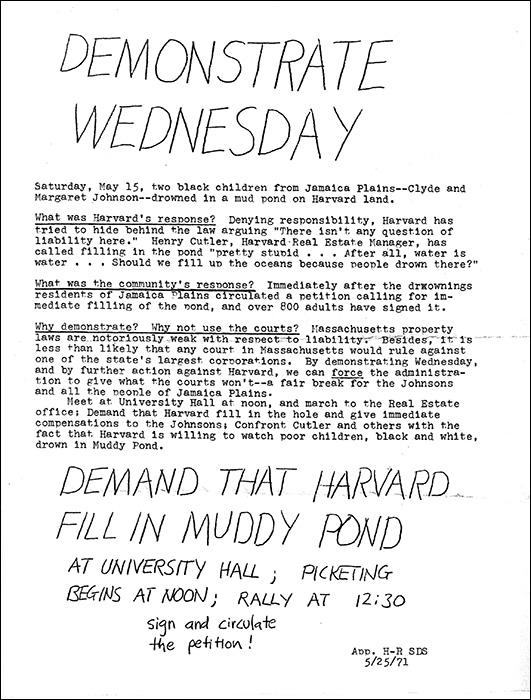 Demonstration Flyer (Archives of Arnold Arboretum)