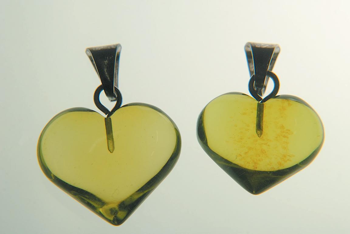 A color photo of copal earrings.