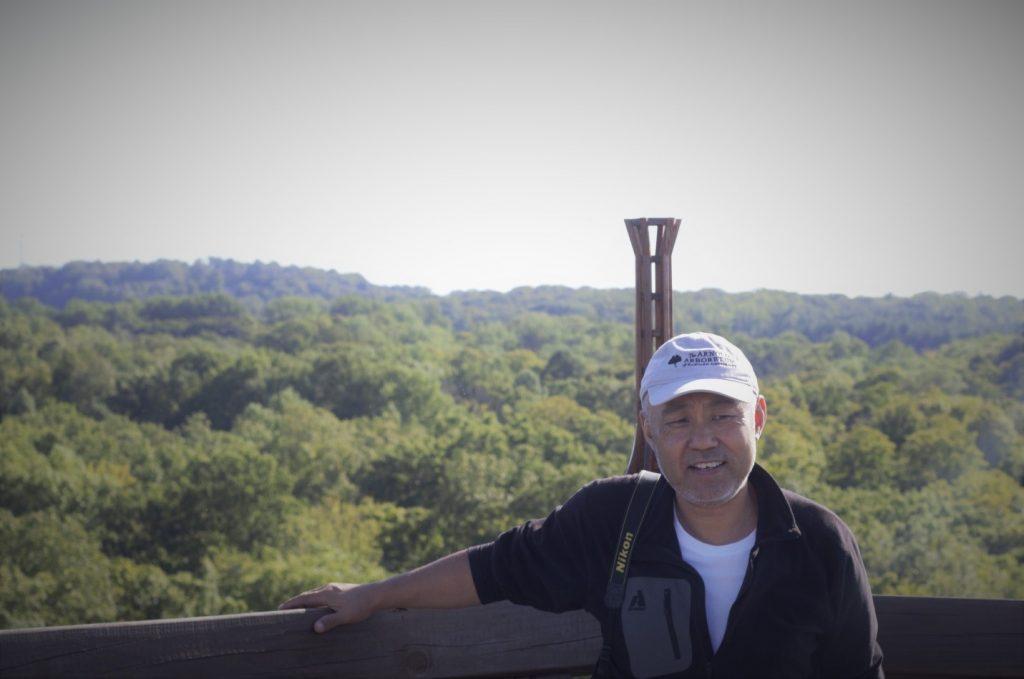 Kang Wang at Emergent Tower Holden Arboretum by Sean Halloran