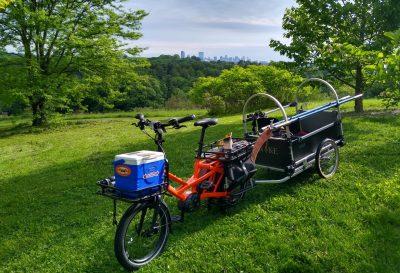 New bike and trailer