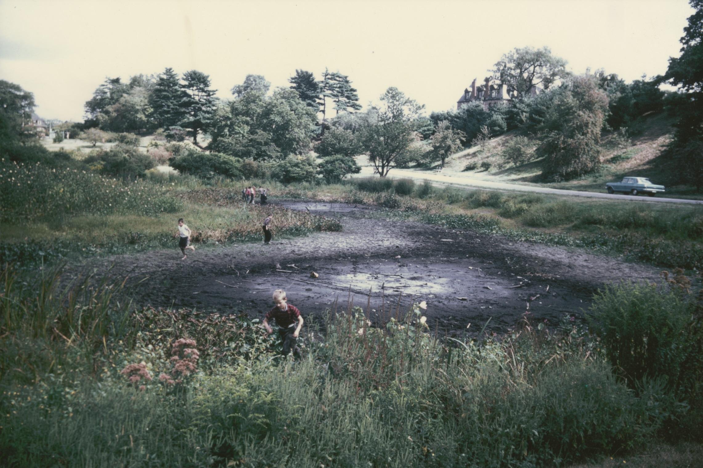 Dawson Pond dry in 1963.