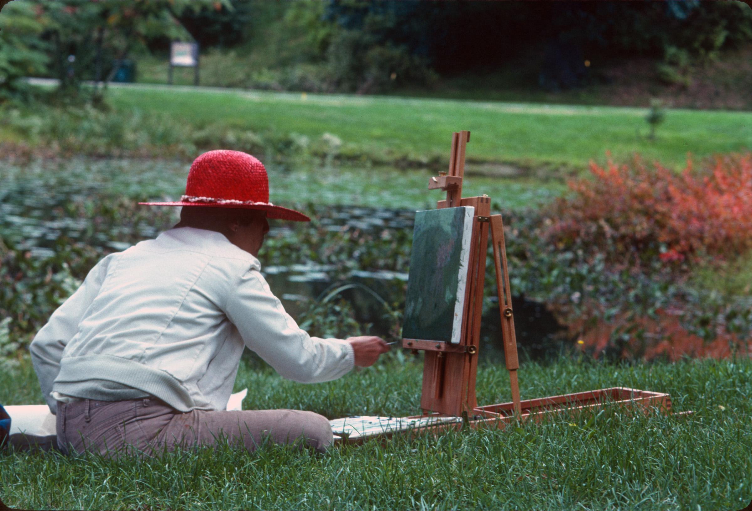 Pondside painter by Albert Bussewitz